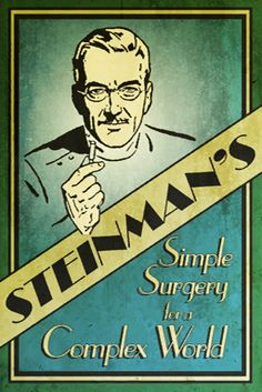 An advertisement for Dr. Steinman's cosmetic surgery.