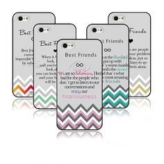 Infinity Best Friends Quote Gray Chevron Hard Case Design For iPhone4 4s 5 5s 5c #UnbrandedGeneric