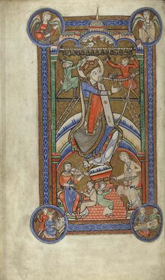 Hunterian Psalter York, Glasgow University Library, MS Hunter 229  f 21v - 1170