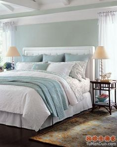 Fresh America Style  Bedroom Photos Cold Color Bed