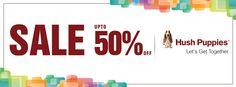 Upto 50% Off - Hush Puppies Summer Sale 2014