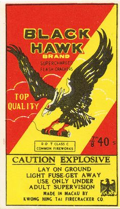 Black Hawk C5 40's Firecracker Pack Label | Flickr - Photo Sharing!
