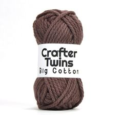 Crafter Twins Big Cotton yarn ball in brown