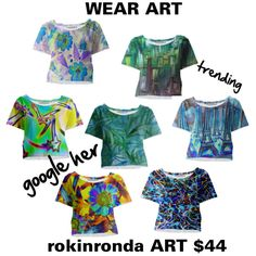 Art Crop Tops by artist-rhonda on Polyvore featuring Paris Blues and paom