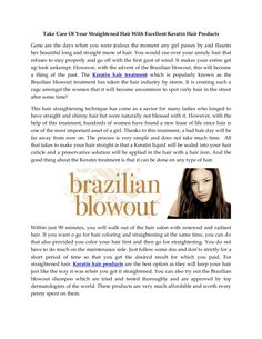 take-care-of-your-straightened-hair-with-excellent-keratin-hair-products by Nikita Narang via Slideshare