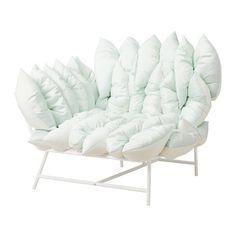 IKEA - IKEA PS 2017, Kulmalepotuoli, jossa 18 tyynyä, valkoinen/luonnonvalkoinen, , Käsinojan voi kiinnittää oikealle tai vasemmalle puolelle.Yhdistämällä kaksi kulmanojatuolia saadaan mukava kahden istuttava sohva.