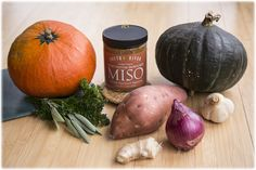 South River Miso - The finest traditional Miso available - Recipes: Soups - Squash Soup with Miso Miso Recipe, Macrobiotic Diet, Squash Soup, Family Meals, Family Recipes, Soups And Stews, Soup Recipes, Onion, Pumpkin