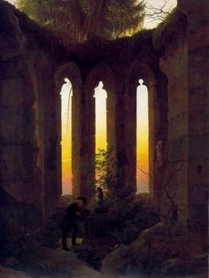 Hutten's Tomb, by Caspar David Friedrich