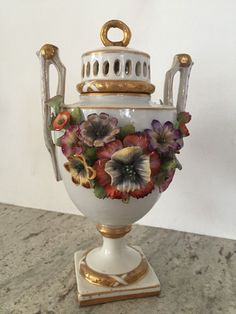 Chinese Hand Painted Bottle In Glass Candle Holder Ebay