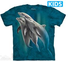 The Mountain Three Dolphins Marine Animals Underwater Blue T Tee Shirt 3d T Shirts, T Shirts For Women, Blue T, Tshirts Online, Dolphins, Classic T Shirts, Shirt Designs, Poster, Tees