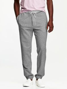 Men's Twill-Fleece Pants