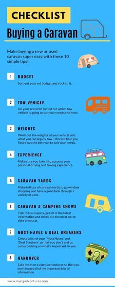 10 Essential TIPS for Buying a Caravan (New or Second Hand) | MYRIG Adventures Second Hand Caravans, Travel Info, Travel Tips, 10 Essentials, Cool Vans, Word Of Advice, Plan Your Trip, Australia Travel, Rigs