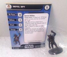 12X Star Wars Bounty Hunters 28/60 Defel Spy (C) Miniatures