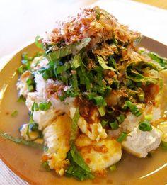 カミナリ島豆腐のレシピを写真付きでご紹介しています。 - 沖縄料理レシピ あじまぁ Tacos, Mexican, Meat, Chicken, Cooking, Ethnic Recipes, Food, Kitchen, Essen