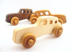 CLASSIC RACER natural wooden car - an organic hardwood toy for baby and toddler…