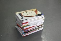 """""""We don't have a plan so nothing can go wrong - (alchemy box #16)"""", 2009 // An Alchemy Box masquerading as a pile of art magazines. The box is sealed containing objects from the collection of Ryan Gander associated with the theme of 'documentation, mediation of the encounter / experience and the cloning or mimicking of another's practice. The ingredients within are listed on the wall as a text near to the box. // Click on """"Visit"""" and see more ! Ryan Gander, Make Meaning, The Encounter, Magazine Art, Alchemy, Magazines, It Works, Objects, 3d"""