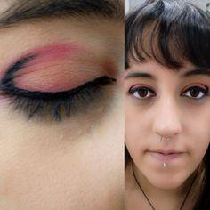 "Práctica express. Maquillaje de ""cocktel""  #makeup #socialmakeup #cocktel #beauty #maquillajesocial #maquillajededia  #daymakeup #maquillajedeojos #eyesmakeup #sombras #sadows #red #beige  #orange #eyerliner #black #kiko #elmaquillajedelaflori #modulomaquillaje #fp #fpcaracterizacion"