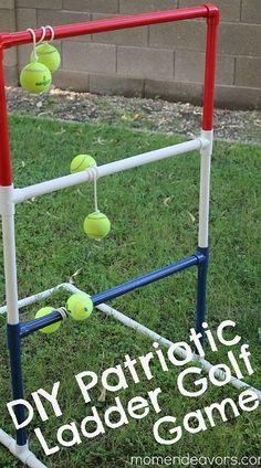 DIY Summer Lawn Games:  Ladder Golf courtesy of @Sara {Mom Endeavors}.