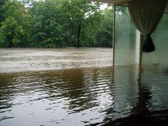 Flooded Farnsworth house 2008