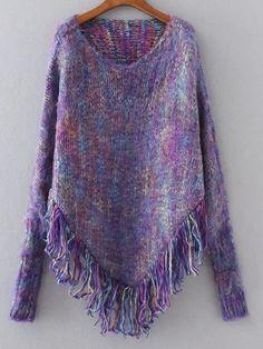 Khaki Fringe Hem Poncho Sweater | Darling Darla's | Pinterest ...