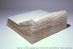 Kazuo Kadonaga, Japan, Paper No. 1 V, 1983, handmade paper, (ručný papier, vrstvenie)