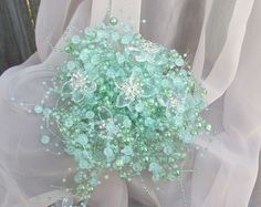 pearl bridesmaid bouquet small bridal bouquet by UptownGirlzz