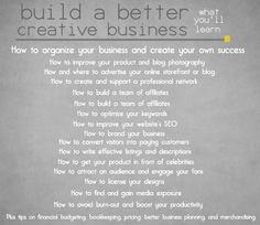 build a better creative business ::  6 week online course