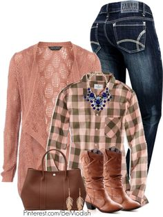cowboy style with cardigan