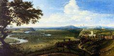 View of Nottingham from the East,Jan Siberechts,c.1695,NCM 1977-515 ©Nottingham City Museums & Galleries Dutch Artists, Local Artists, Landscape Art, Landscape Paintings, Nottingham Castle, Oil On Canvas, Canvas Prints, City Museum, Art Uk