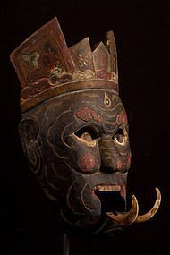 primative masks | Important Chinese Nuo Mask 28, China (item #791169)