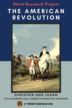 American history comes alive with this digital interactive notebook for Google Slides. It can supplement your lessons on the people, events and places of the American Revolution. Adaptable to in-person, hybrid model or distance learning situations. Students click on embedded links to websites and videos to research the timeline, maps, and battles of the Revolution. Use it as a short or long term project that can be self-paced for 3rd,4th, 5th grades. Discover and learn more! #twoboysandadad Teaching American History, Math Coach, 21st Century Learning, American Symbols, Learning Tools, American Revolution, Interactive Notebooks, 5th Grades, Ipads