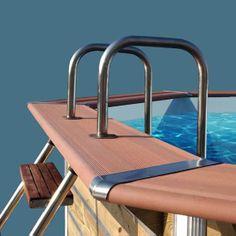 Margelle piscine hors-sol Water'Clip.
