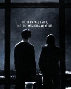 This quote means that though the town and everything in it is messed up and not perfect Margo and Quentin won't forget the memories they made in the town when they graduate. | Paper Towns - John Green