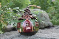 The Fishing Shack A Fairy Cottage by paintdrawlaugh on Etsy, $55.00