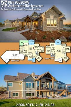 Architectural Designs Craftsman Home Plan 95030RW has 2+ beds and 2.5+ baths and over 2,600 sq.ft of heated living space PLUS 2,400+ sq.ft. optional lower level. Ready when you are. Where do YOU want to build? #95030RW #adhouseplans #architecturaldesigns #houseplan #architecture #newhome #newconstruction #newhouse #homedesign #dreamhome #dreamhouse #homeplan #architect #architect #houses #house #home