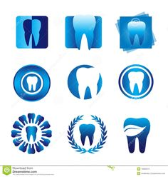 Illustration about Several design elements, which can be used for your company logo. Illustration of dentist, shapes, medical - 15692674 Dentist Art, Dentist Logo, Dental Clinic Logo, Dental Photography, Dental Posters, Dental Technician, Clinic Interior Design, Dental Office Design, Medical Illustration