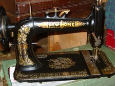 Details on Antique New Home Treadle