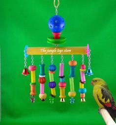 Jouet pour petit perroquet  6''  15 cm  X par TheJungleToysStore