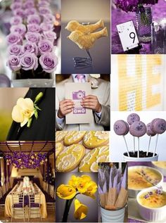 Lavender and Yellow