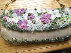 MARY FRANCES Chabby Chic Garden Feel Beaded Whimsical Handbag, Purse