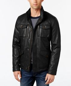 TOMMY HILFIGER Tommy Hilfiger Men'S Faux-Leather Field Jacket . #tommyhilfiger #cloth # coats