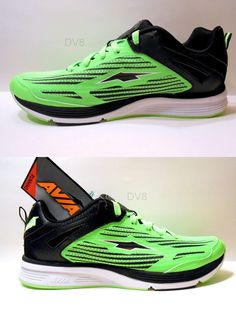 Mens AVIA running shoes sneakers-Size 10.5-Neon green/blue-Free ...