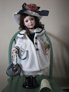The Broadway Collection Porcelain Cloth Victorian Doll Stunning Eyes | eBay