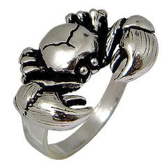Crab Design Sterling silver  Ring by jewelkingthai on Etsy, $16.00