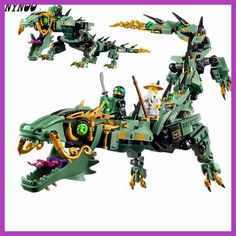 YNYNOO 592pcs Movie Series Flying mecha dragon Building Blocks Bricks Toys lepin Children 70612 Gifts Compatible Ninjagoings