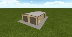 3D #architecture via @themuellerinc http://ift.tt/2eB8AAC #barn #workshop #greenhouse #garage #DIY