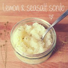 This homemade lemon and thyme body scrub is easy and quick to make with just a few kitchen ingredients. Not only is this scrub great for curing dry winter skin... but it smells delicious too! Its quite inexpensive and uses all-natural ingredients; making it perfect to present in a cute recycled jar as a little homemade gift.