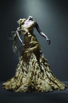 """alexander mcqueen - """"oyster"""" dress, irere, spring/summer 2003"""