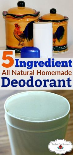 This homemade natural deodorant recipe really works. This homemade deodorant has just 4 simple ingredients. Everything in the DIY deodorant is all natural. via @BarnyardJen