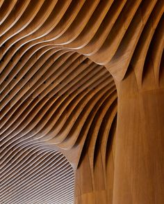 Bamboo chosen by Zaha Hadid Architects for fluid interior design at CityLife Shopping District, Milan Chinese Architecture, Architecture Office, Futuristic Architecture, Sustainable Architecture, Office Buildings, Futuristic Interior, Concept Architecture, Zaha Hadid Architects, Architectes Zaha Hadid